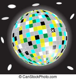 Disco Ball - Vector image of a multi coloured disco ball