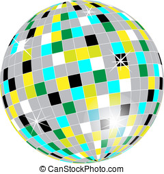Disco ball - Vector of a disco ball