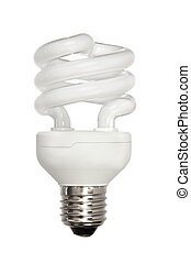 energy-efficient light bulb isolated on white