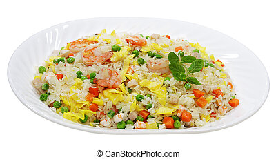 Fried Rice - Fried rice with shrimp, meat, egg and...