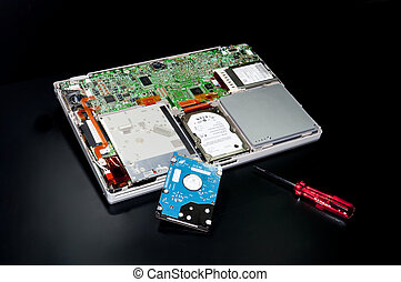 computer component - repair of a laptop computer with the...