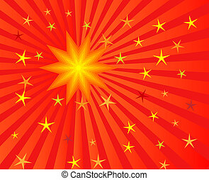 Sun burst - Raster illustration of sunburst for abstract...