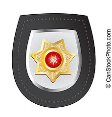 Police Badge - Raster illustration of a police badge...