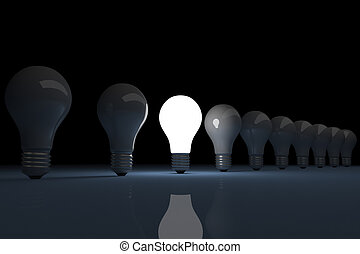 Bright lit light bulb - 3d render of a bright lit light bulb...