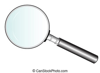 Magnifying Glass - Raster illustration file of a magnifying...