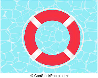 Lifesaver - Raster illustration of a lifesave on water...