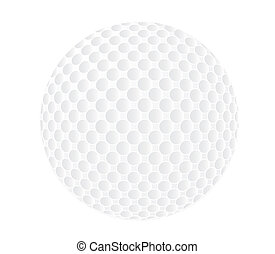 Golfball - Raster illustration of a single golfball isolated...