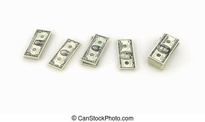 dollar bundle banknote - Bundles of dollar banknotes