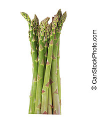 Asparagus - Bundle of asparagus isolated on white background