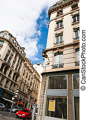 Urban scene from Lyon, France - An urban Lyon scene captured...