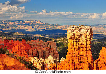 Hoodoo rock formation in Bryce Canyon.