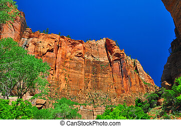 Sheer cliffs at Zion NP