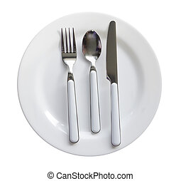 Cutlery Diner Set - Cutlery diner set with plate, knife,...