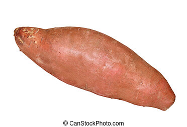 Yam - Raw sweet potato isolated on white background