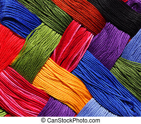 Embroidery Thread Background