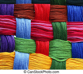 Thread Background - Colorful abstract background made by...