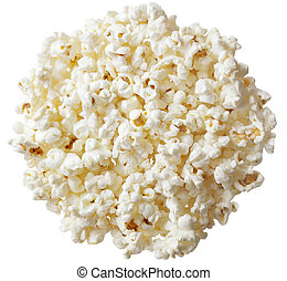 Popcorn - Group of popcorn isolated on white background