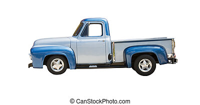 two tone blue pickup4jpg - classic two tone blue truck