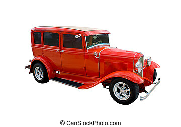 red 4 door hotrod (4).jpg - classic four door hotrod with...