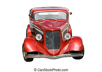 wine hotrod on white4jpg - wine colored classic hotrod