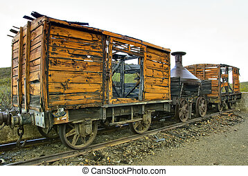 abandoned train - The old abandoned train in Spain