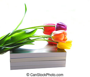 Tulips and books