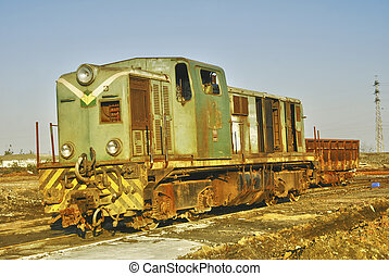 Old train locomotive - Abandoned Railway Carriage in...