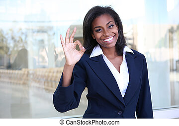 African Business Woman Success - A pretty african american...