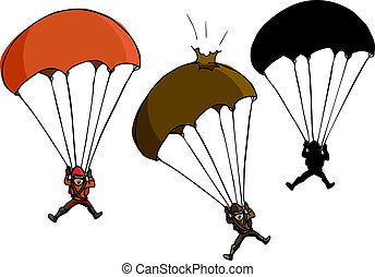 Parachute Jumper - Parachute jumper with damaged parachute...