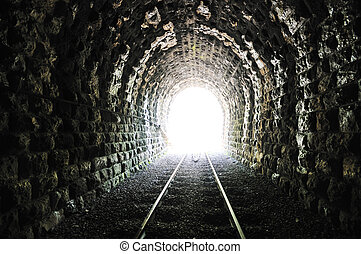 tunnel end light - light on end of train tunnel representing...