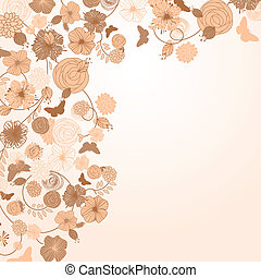 vector abstract floral background with place for your text