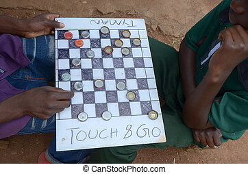 checkers -  game of checkers in africa