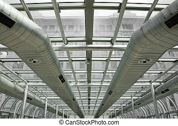 Air-conditioning Ducts - Air-conditioning ducts in a modern...