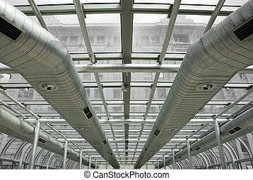 Air-conditioning Ducts - Air-conditioning ducts in a modern...