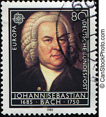 Johann Sebastian Bach - GERMANY - CIRCA 1985: A Stamp...