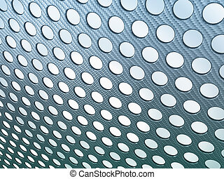 Abstract Carbon fibre perforated over light background