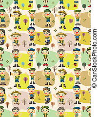 seamless boy/girl scout pattern - seamless boy/girl scout...