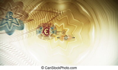 Cash Flow World Currency Loop - Looping animation of several...