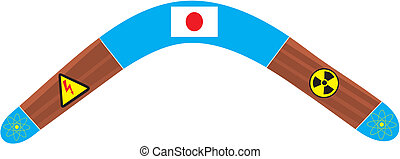 Japan Boomerang - Boomerang, symbolizing the problem of...