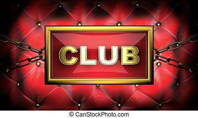 club on velvet background
