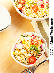 Orzo Pasta Salad - Rice like pasta orzo in a salad with...