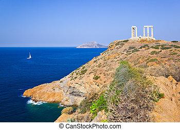 Atenas,  Poseidon, Templo, Grécia