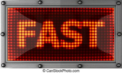 fast  announcement on the LED display