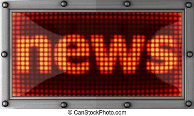 news announcement on the LED display