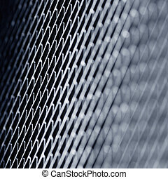 Metal texture. Blue toned background.
