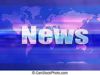 World blue news communication illustration clip art