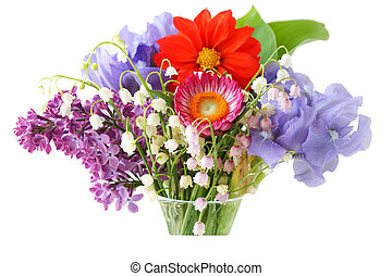 Color Flower in vase