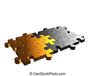 Chrome and gold puzzle