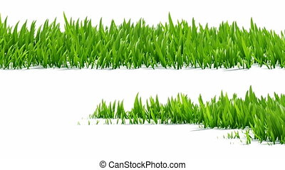 Growing grass with alpha channel