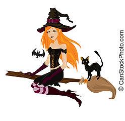 Halloween, sorcière